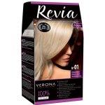 REVIA barva na vlasy 01 PLATINUM BLONDE Světlý blond 50 ml + 20 ml + 50 ml
