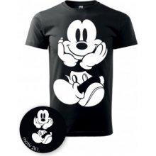 PotiskniTriko.cz Tričko Mickey Mouse 261 černé