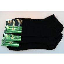 Pesail pánské bambusové kotníkové ponožky černé 3 páry 0a8f213297