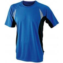 pánské funkční tričko s krátkým rukávem JN391 Královská modrá / černá