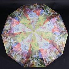 Dámský skládací deštník Aura světle zelený