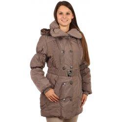 Dámská bunda a kabát TopMode prošívaný zimní kabát Pro plnoštíhlé hnědá 737341f8d5