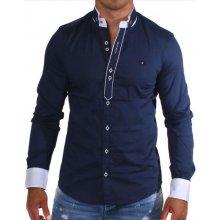 Carisma košile pánská 8018 dlouhý rukáv Slim Fit tm. modrá