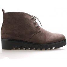 Šedé kotníkové boty s tkaničkami Claudia Ghizzani 096cbd0b30