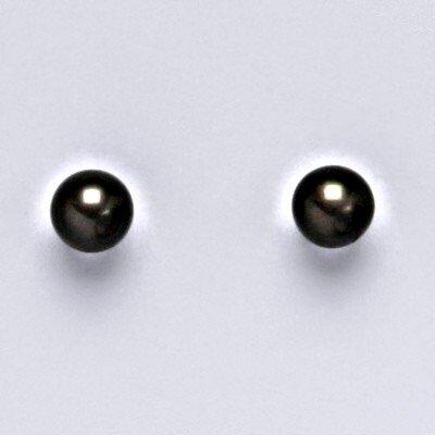 Čištín náušnice zlaté 142146356 přírodní říční černá perla 55 NŠ 1183