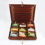 Numi Dárková kazeta bambusová, mix čajů 9 druhů, 45 ks