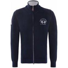 La Martina luxusní svetr na zip od Tmavě modrý