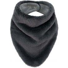 Esito šátek na krk Lara podšitý bavlnou Šedá tmavá