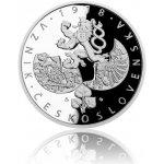 Česká mincovna Sada čtyř stříbrných dvouuncových mincí Převratné osmičky našich dějin proof 248,8 g