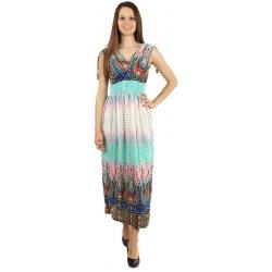 YooY vzorované dlouhé letní šaty zelená od 380 Kč - Heureka.cz ed6c6de43e