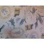 Levandule-bílá látka-směsová látka-potahová metráž 02caea7b206