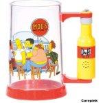 CurePink Korbel The Simpsons/Simpsnovi: Mluvící potisk průhledný plast 600 ml