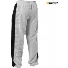 Gasp NO1 MESH PANT WHITE/BLACK – tepláky Gasp bílo-černé