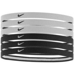 d883b49382a Čelenka Nike Swoosh Sport Headbands Čelenky 2.0 se silikonem 6 ks ČERNÁ BÍLÁ