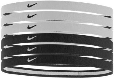 Nike Swoosh Sport Headbands Čelenky 2.0 se silikonem 6 ks ČERNÁ BÍLÁ 5b191f21c5