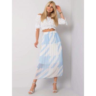 Skládaná sukně se vzory modrá