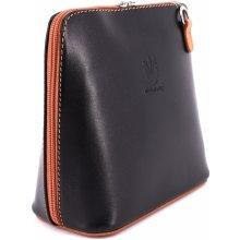 Arteddy dámská malá kožená kabelka crossbody černá hnědá 625b42d053d