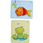 Haba dřevěné puzzle žabka a ryba