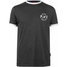 042cd659454 Pierre Cardin Printed Ringer T Shirt Mens Charcoal Marl