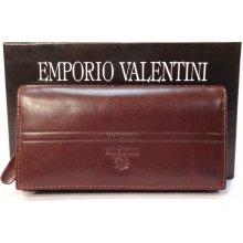 Emporio Valentini 563 Pl09 tmavě dámská kožená peněženka hnědá