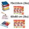 Home Collection vakuové pytle 6ks (3ks 60x80 a 3ks 70x100), 3ks 70x100 cm, 2ks 60x50 cm a 2ks 60x80