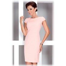 1e5ab4dd2d83 Numoco dámské společenské a casual šaty s krátkým rukávem korálová
