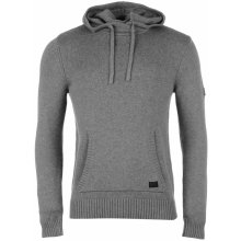 Firetrap Hooded Knit Jumper Light Grey Marl