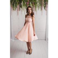 6287dc92fdda Dámské společenské šaty Deborah s krajkou růžová