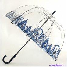 Fulton dámský průhledný holový deštník Birdcage-2 LONDON ICONS