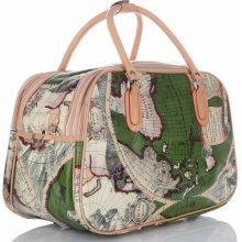 5079ac4c4d5 Or Mi World Multicolor Velká taška kufřík Zelená