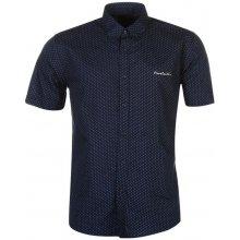 c14fe11a33ca Pierre Cardin Short Sleeve Shirt Mens Navy Wht Geo