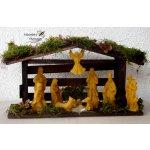 Vánoční betlém voskové figurky Včelařství Thomayer