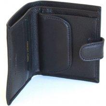 Valentini Pánská peněženka na výšku kožená zapínací jednoduchá 306P10 09KUZ černá