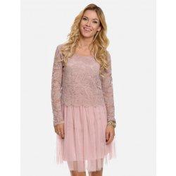 Calzanatta společenské dámské šaty s tylovou sukní 80100026 růžová ... e108a3a50b
