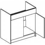 Casarredo D80ZL dolní skříňka pod dřez MORENO sonoma