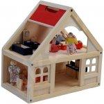 Woody Domeček s příslušenstvím a panenkami 21 dílů