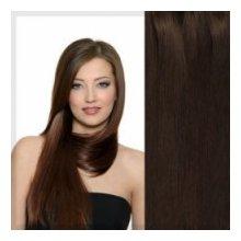 Clip in vlasy 38 cm - čokoládově hnědá #4