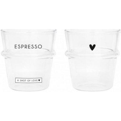 Bastion Collections Sklenice na kávu Espresso Hearts Enjoy Espresso 100 ml
