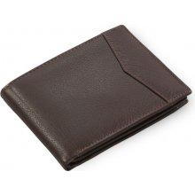 Arwel Pánská peněženka hnědá kožená