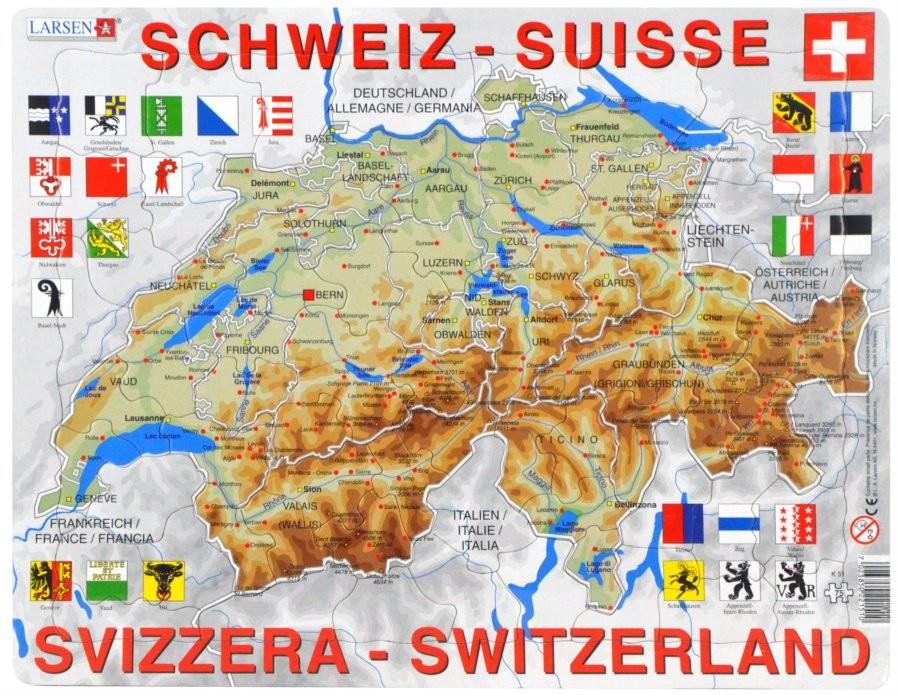 Larsen Vyukove Svycarsko Zemepisna Mapa 75 Dilku Od 158 Kc