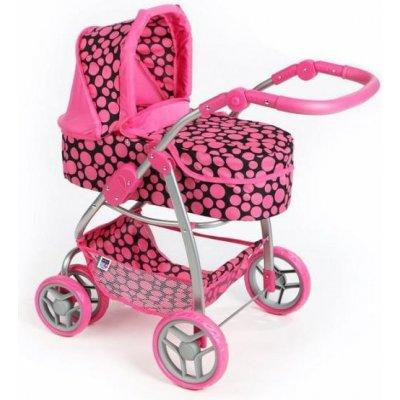 PLAYTO Multifunkční kočárek pro panenky Jasmínka - Světle růžový