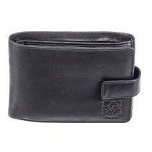 Kubát Pánská kožená černá peněženka Kůže 70212