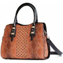 Bright Fashion kabelka větší A5 se vzorem a kamínky hnědá b6304d92987