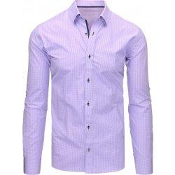 Pánská Košile Fialová košile s dlouhým rukávem dx1463 5e042dab60