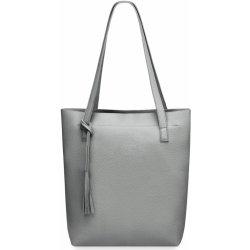 34e09bf4b Kabelka dámská kabelka shopper na nákupy s třásněmi šedá