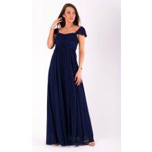 Eva   Lola dámské šaty s rukávkem dlouhé tmavě modrá 76265c5b182