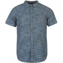 SoulCal Short Sleeve Denim Shirt Mens Mid Wash