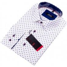 Bílá pánská Košile dlouhý rukáv vypasovaný střih Native 120004 30d422c057