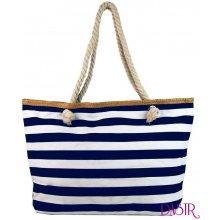 16e976c78015 Velká lehká plážová taška přes rameno H-106-3 modro-bílá