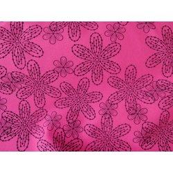 b2c8c798236d Metráž Růžový softshell - potisk kytky - metráž